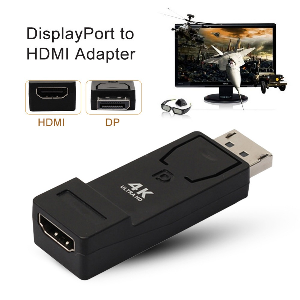 New Displayport To Hdmi Adapter 4k2k Dp Male Female Converter Video Audio Cable Support 3d For Monitor Projector In Mini Cables From Computer