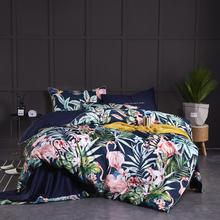 Egyptian Cotton Soft Duvet Cover Fitted Bed sheet set Flamingo Paisley Bedding Set Family set Twin Queen King size 4Pieces cheap IvaRose HOME TEXTILE None Sheet Pillowcase Duvet Cover Sets 1 8m (6 feet) 1 5m (5 feet) 2 0m (6 6 feet) Grade A R-183