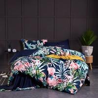 Luxury Egyptian Cotton Flamingo Bedding Set Twin Queen King size 3d Bed set Duvet Cover Fitted/Bed sheet set parrure de lit