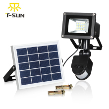 T-SUNRISE Solar Flood lLight 10W Outdoor Lighting Solar Floodlight Motion Sensor Waterproof IP65 Solar Spotlights Garden Lamp
