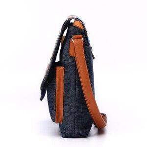 Image 4 - Annmouler Vintage Shoulder Bag Womens Fashion Demin Crossbody Bag Eiffel Tower Print Messenger Bag for Ladies Casual Tote Bags