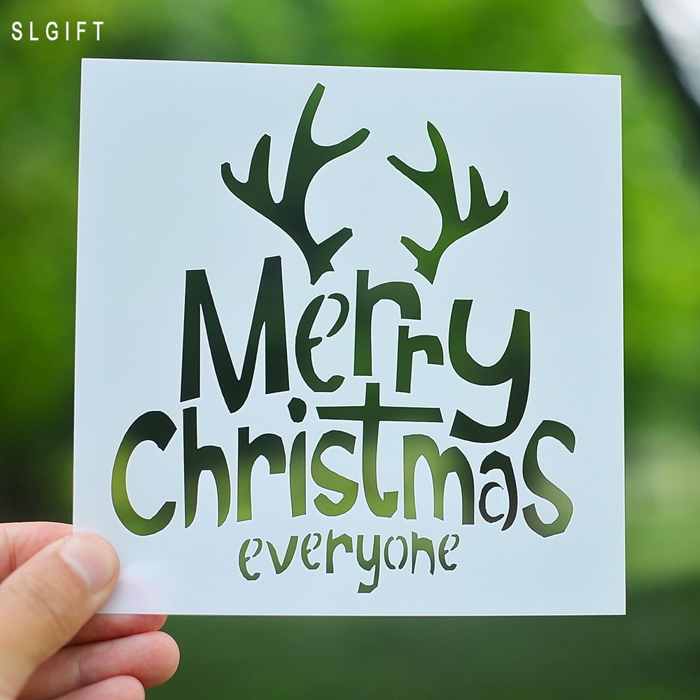 merry christmas diy crafts layering stencil for painting