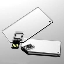 New Transparent High Speed Card Usb 2.0 Memory Flash Stick Pen Drive (Over 20 Pcs.free Logo Fee)