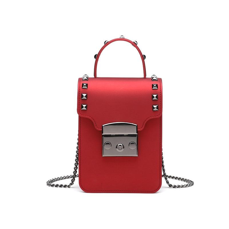 4PCS / LOT Women Handbags Chain Mini Messenger Bag Candy Color Shoulder Party Lock Purse Sac