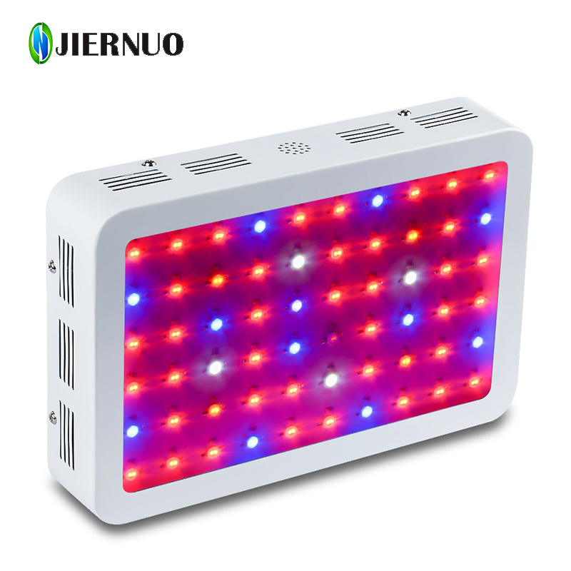 JIERNUO 600W LED Grow Light Full Spectrum Red Blue Warm white White IR UV 60 leds plant grow lamp for plant indoor growing light full spectrum double chips 10w epistar 36led ac85 265v red blue warm white white ir uv led grow lights lamp for hydroponic plant
