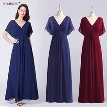 1e80c68e2a1 Темно-синие шифоновые вечерние платья Длинные когда-либо красивые новые с  v-образным вырезом Элегантное Длинное платье А-вечерни.