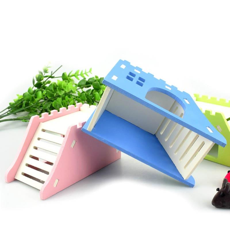 Ladder 1 PC Viewing Deck Pet House Wooden Pet Products Pet Hedgehog Castle Toy Hamster Nest Hamster House