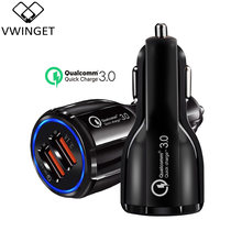 Quick Charge 3.0 Car Charger สำหรับโทรศัพท์มือถือ Dual USB Car Charger Qualcomm QC 3.0 Fast CHARGING Adapter อะแดปเตอร์ Mini USB car Charger(China)