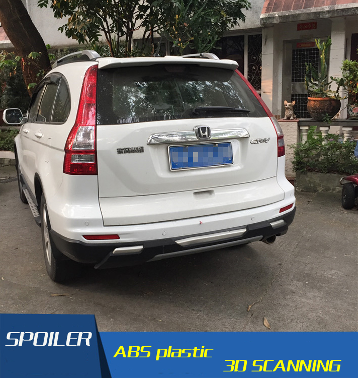 For Honda CRV Spoiler ABS Material Car Rear Wing Primer Color Rear Spoiler Press the tail For ...