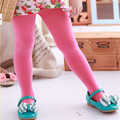 Spring Kids Baby Girls Candy Color Slim Soft Velvet Elastic Leggings Trousers Underpants