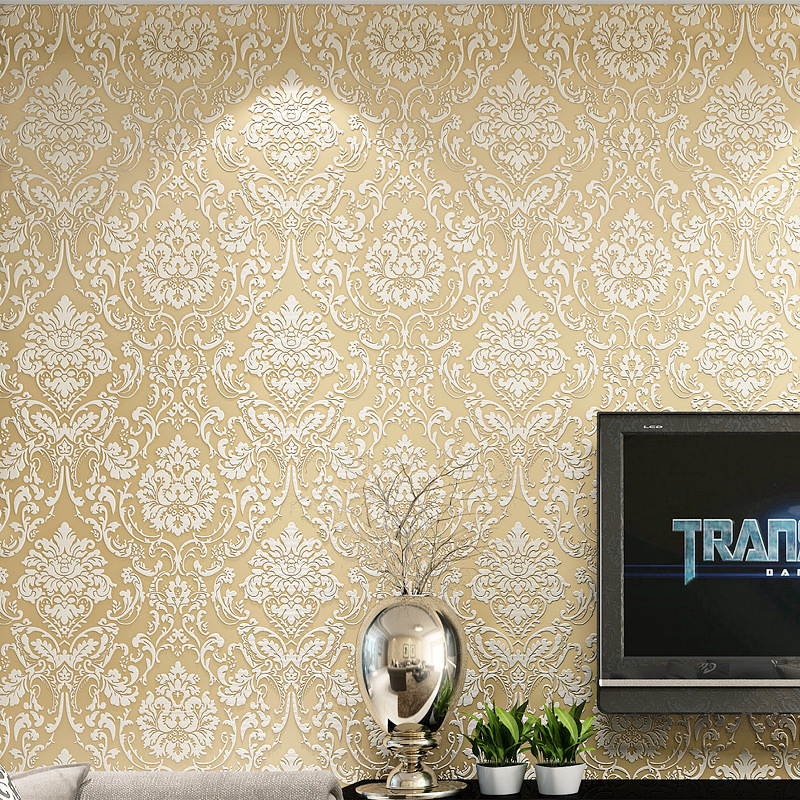 """beibehang French Modern Damask Feature Wallpaper Bedroom TV Backdrop wall paper for bedroom living room home decoration an anthology of modern french poetry 1850a€""""1950"""