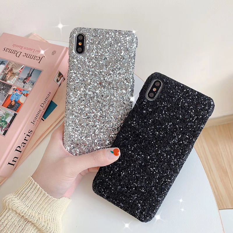 Luxury Shining Sequin Sexy hard plastic phone case for Apple iphone 6 S 6S 7 7