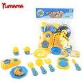 Tumama culinária clássica toys para crianças 12 pcs conjunto de corte de alimentos crianças pretend play kitchen toys