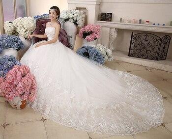 wedding dresses turkey high quality wedding dress 2019 with long tail wedding gowns luxury dress strapless princess style bridal