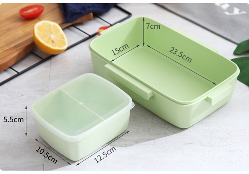 TUUTH New Microwave Lunch Box Independent Lattice For Kids Bento Box Portable Leak-Proof Bento Lunch Box Food Container A1