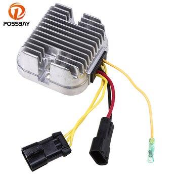 POSSBAY Motorcycle Metal Voltage Rectifier Regulator for Polaris Ranger 500 RZR 800 Aluminum Voltage Rectifier Regulator