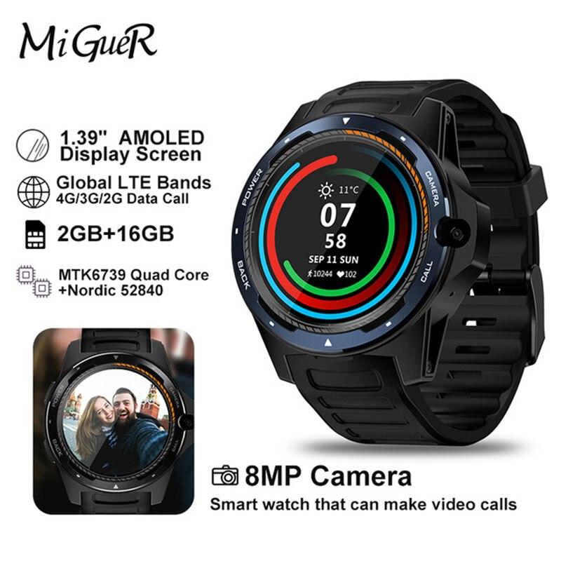 """Nouveau phare Zeblaze THOR 5 double système Smartwatch hybride 1.39 """"AOMLED écran 8.0MP caméra frontale 454*454 p x 2 GB + 16 GB montre intelligente-in Montres connectées from Electronique    1"""