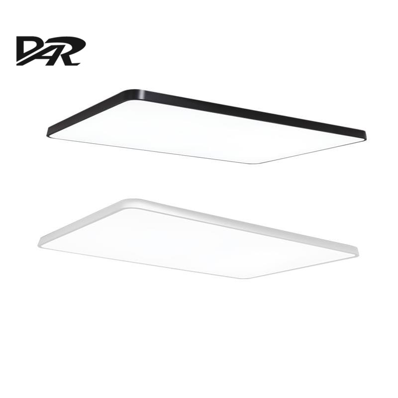 2017 DAR Ultra-thin Rectangle Ceiling Lighting Fixtures Minimalist Led Ceiling Lamp With Remote Control Lamparas De Techo Lustre dar post modern led pendant lights fixtures crystal lampshade project lighting lamparas de techo lustre gold chrome hanging lamp