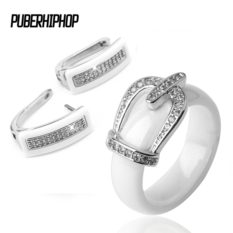 Health Material Wedding Jewelry Sets for Women Classic Crystal Crown Bride Engagement Stud Earrings & Rings Wedding Bride Sets cele goldsmith lalli modern bride® wedding celebrations