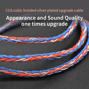 Image 5 - CCA C2 8 Core Orange Blue Braded Silver CableUpgraded Plated Cable Earphone Upgrade for KB10 KB06 A10 C10 CA4 KZ AS16 AS10 AS12