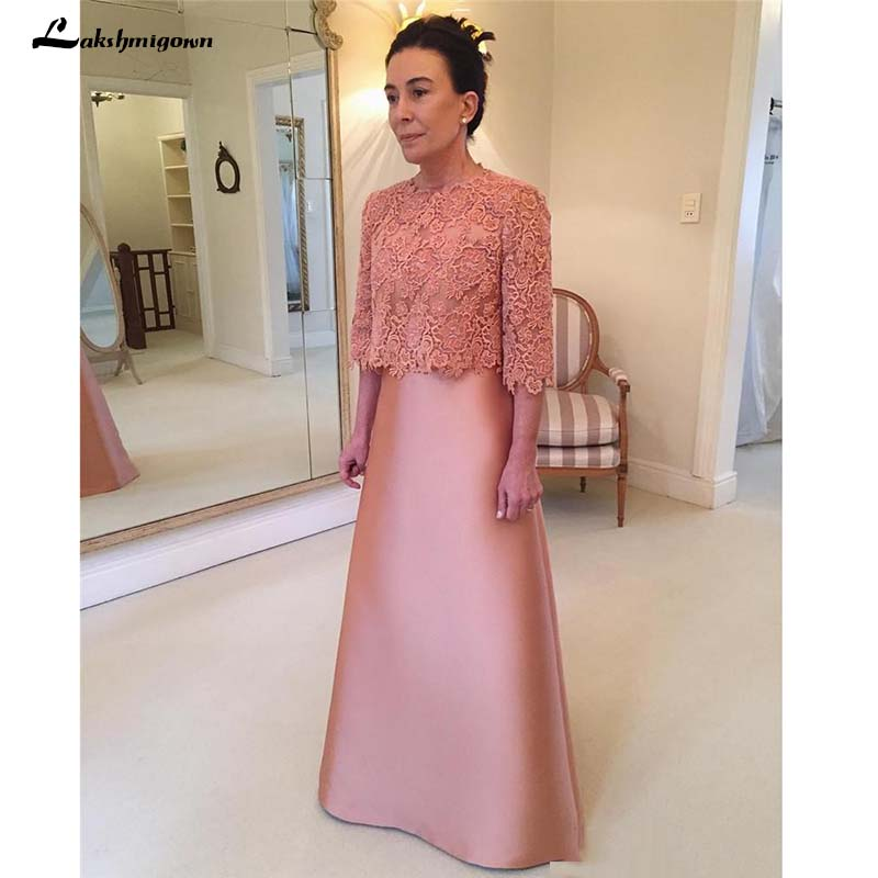 US $98.5 50% OFF|Plus Size Cheap Mother Of the Bride Dresses with Jackets A  Line Vintage Lace Long Sleeves Mother Formal Evening Party Gown-in Mother  ...