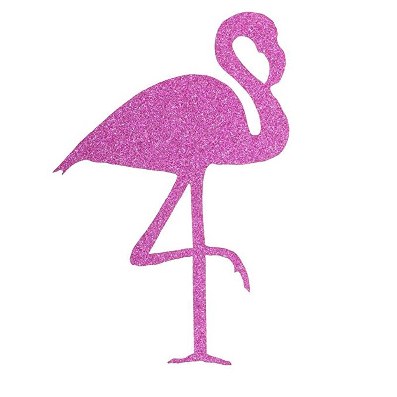 12pcs Flamingo Sticker Bottle Cup Label Bachelorette Hen Party Pool beach Wedding Kid Birthday bridal Baby Shower Decoration