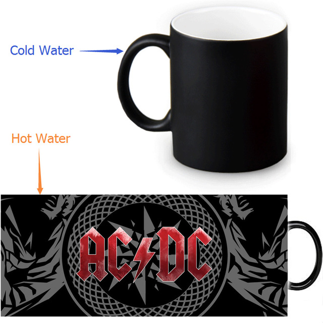 Ac Dc Mugs Heat Changing Color Tea Mug Transforming Black Magic Morphing Coffee For Friend Gift
