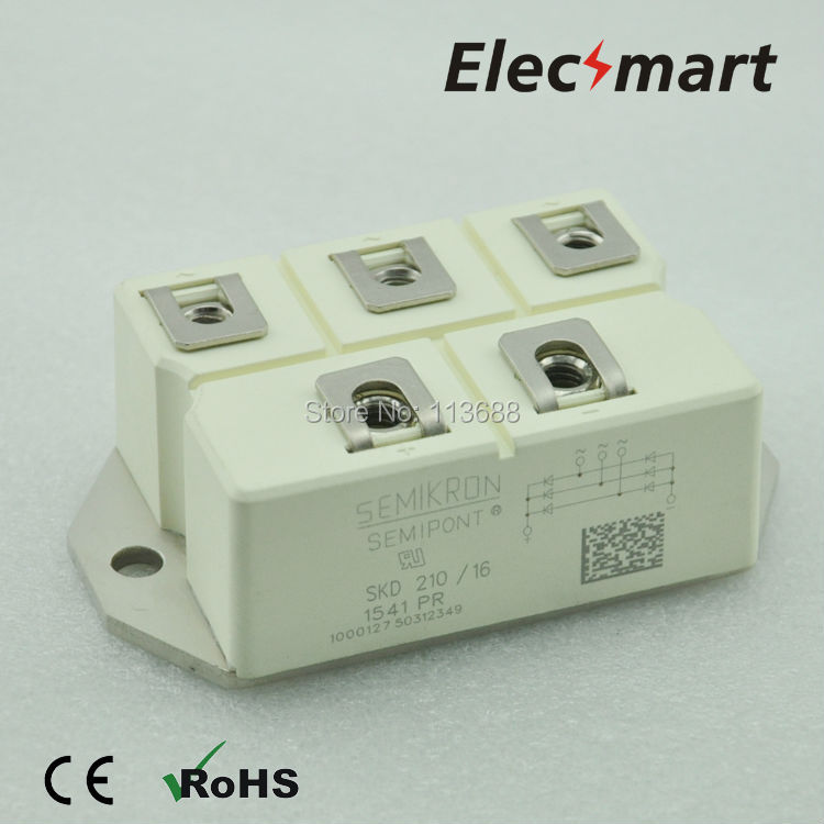 Semikron type Three phase bridge rectifier SKD210/16 semikron semikron skm100gb128d skm100gb123d original new igbt modules
