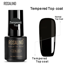 ROSALIND 7ML Base&Top Gel Nail Polish Semi Permanent Tempered Top Rein Force Gel Rubber For Gel Varnishes Manicure Nail Art