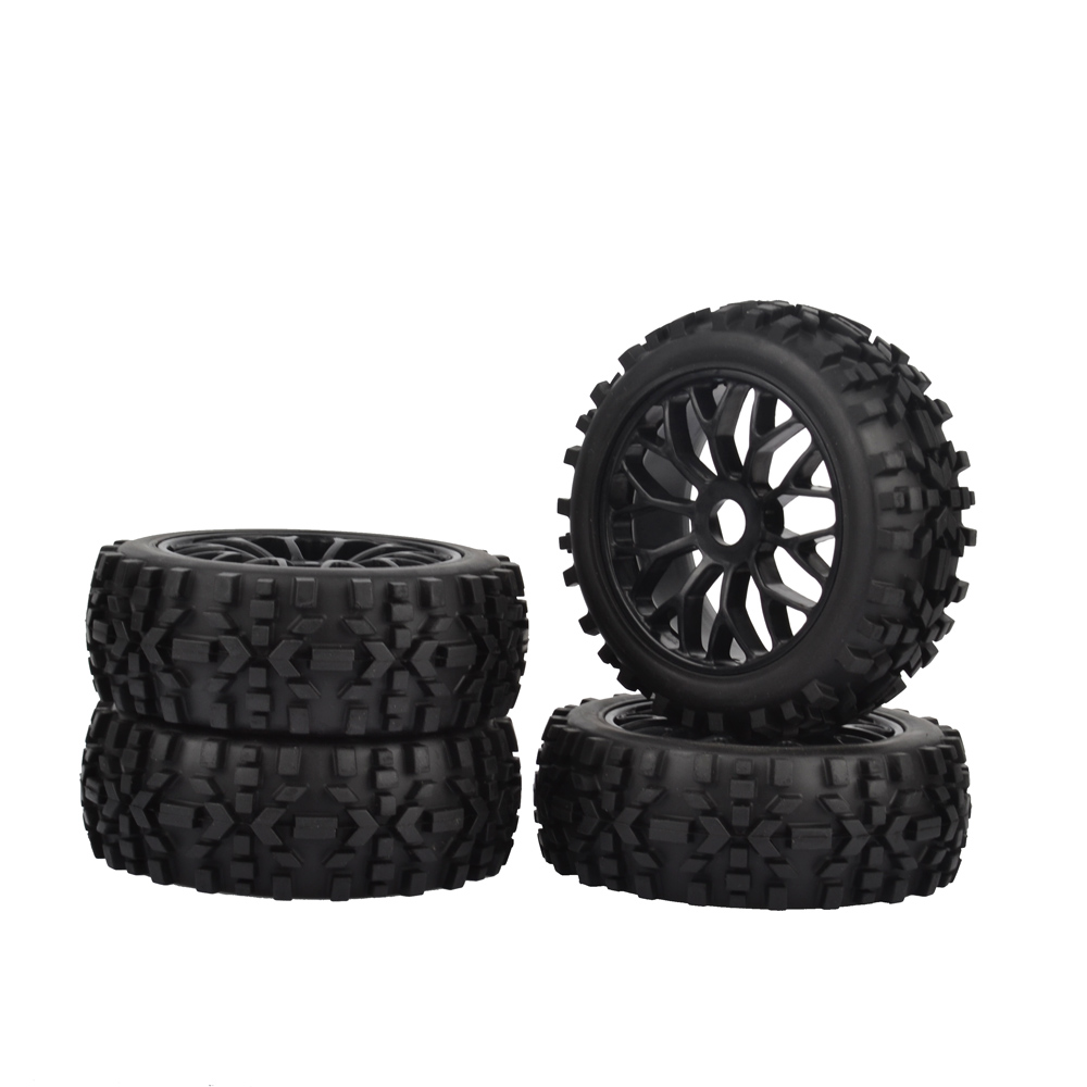 4pcs 17mm Hub Wheel Rim & Tires Tyre for 1/8 Off-Road RC Car Buggy KYOSHO HPI LOSI HSP цена