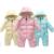 Inverno para baixo Macacão de bebê da Menina do Menino Infantil outwears Quente engrossar Jumpsuits Macacão Para Baixo para o Inverno snowsuits bebê roupas