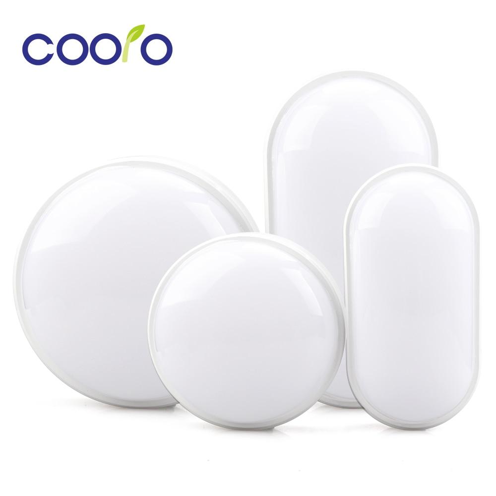 Round / Oval LED Moisture Proof Ceiling Lamp IP65 Waterproof Bathroom Outdoor Garden Yard Lamp, 16W 20W Modern Wall Lamp Light
