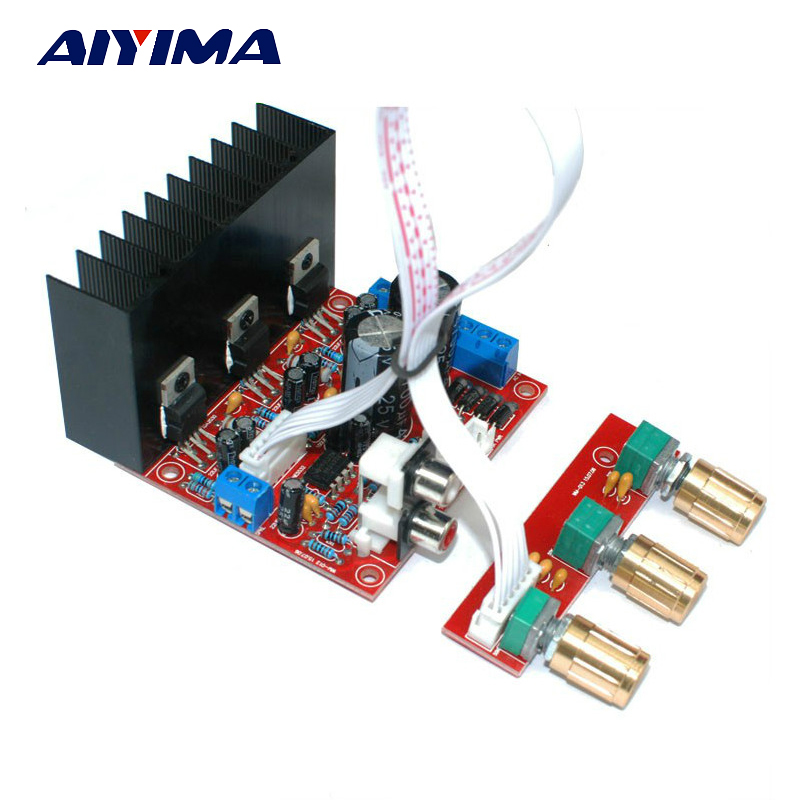 Aiyima TDA2030A 2.1 Subwoofer Amplifier Board Three-channel Speaker Audio Bass Amp Board image
