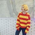Korean 2016 Winter Harajuku BF Women Pullover Sweatshirts Loose Long Sleeved Warm Basic Girl Red Yellow Sweatshirts A572