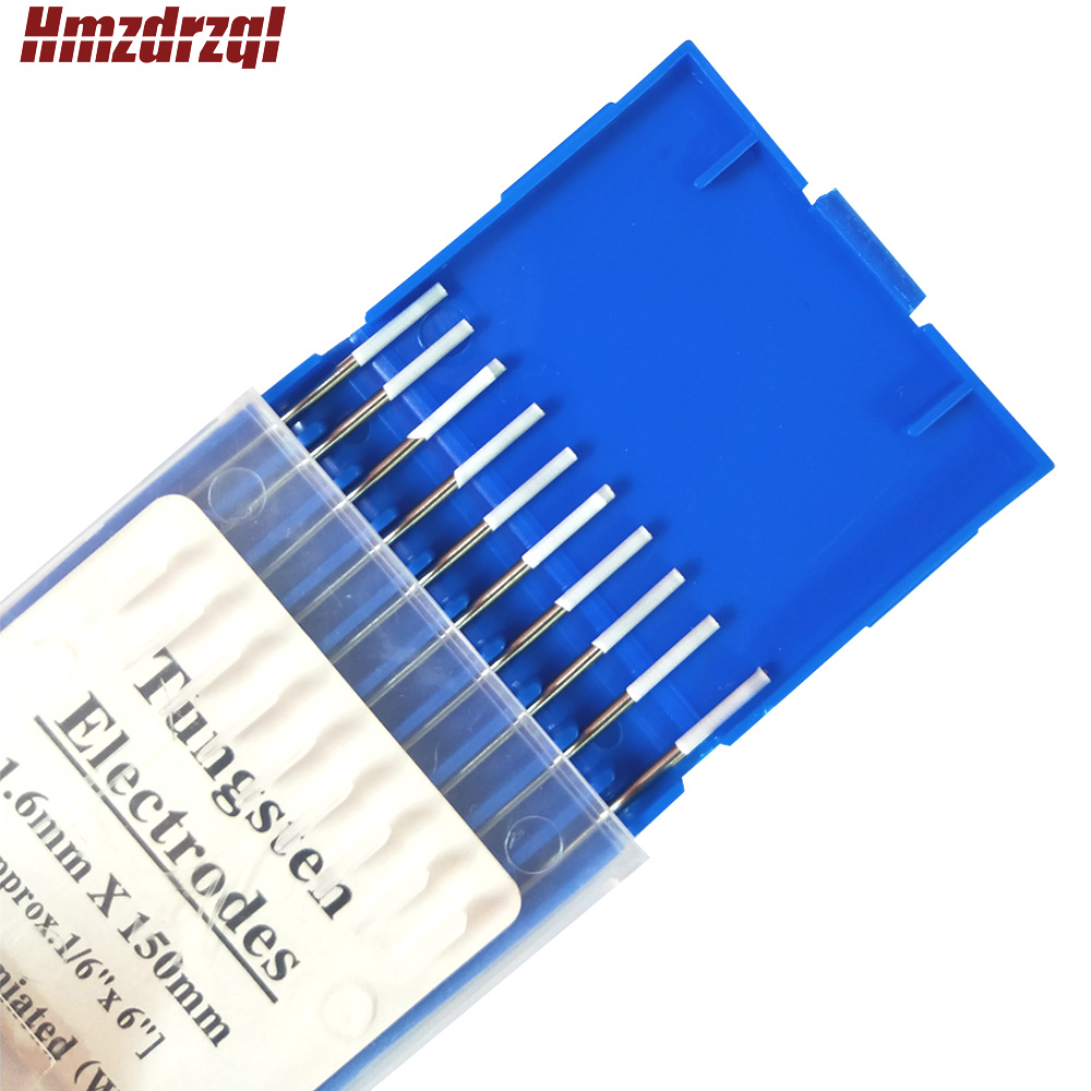 10 pcs  Tin Tungsten Electrode Tungsten Needle Welding Rods/Electrodes 0.04'' 1/16'' 4/51'' 3/32'' 1/8''x6'' For Welding Machine