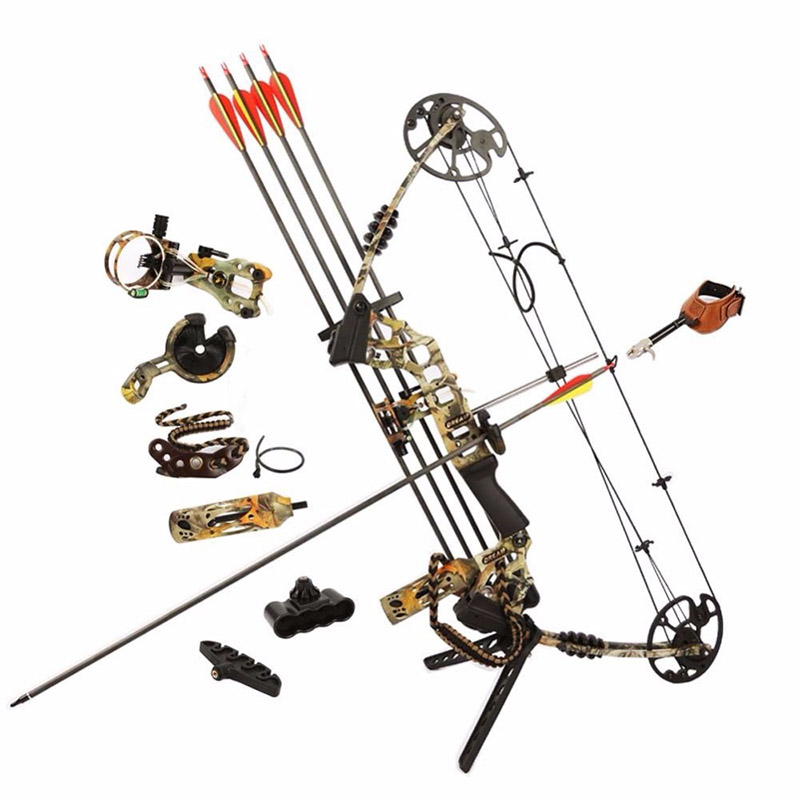 Junxing M120 Dream Hunting Compound Bow Right Hand Outdoor Bows Arrows Archery Powerful Shooting junxing compound bow for hunting archery bow right hand 50 60 lbs draw weight outdoor shooting athletics bows arrow set