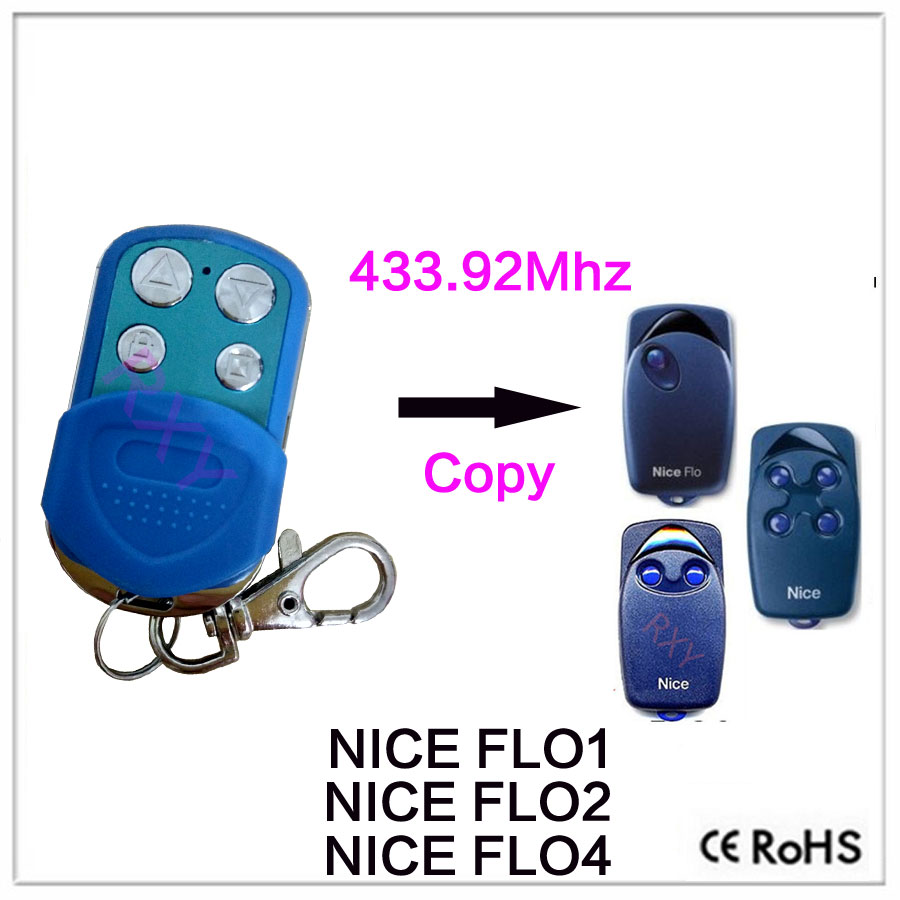 waterproof colorful NICE FLO1, FLO2, FLO4 Garage Door/Gate Remote Control Replacement/Duplicator nice flo2r s replacement garage door opener remote control
