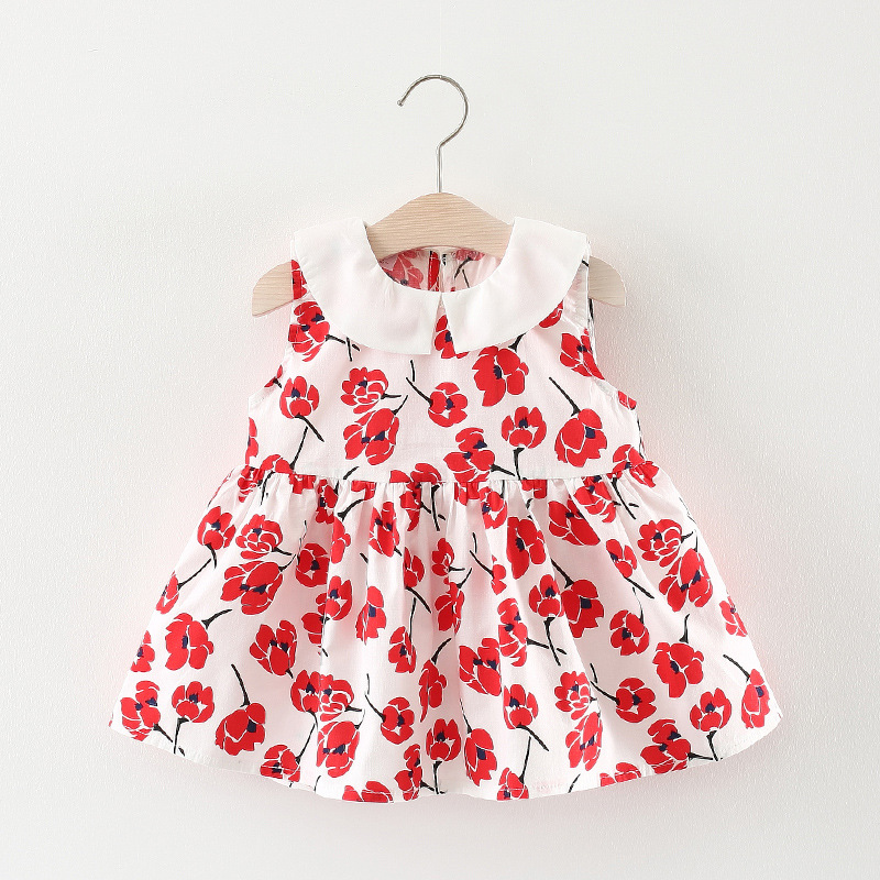 BibiCola Children Girls Dress Baby Princess Dress Vestido Infantil 2018 Summer Kids Dresses For Girls Clothes Cotton Dress Girl