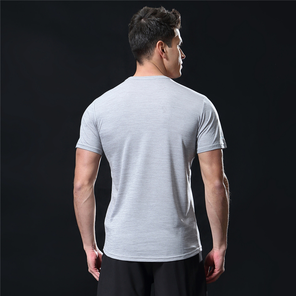 GANYANR Running T Shirt Men Basketball Tennis Sportswear Tee Sport Fitness Gym Jogging Tops Slim Fit quick dry Exercise Training 37