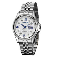 SUNBLON S509 Fashion Casual Men Watch Water Resistant Stainless Steel Mens Clock Automatic Mechanical Quartz Wrist Watch relogio
