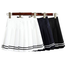 2020 Women S Kawaii Vintage AA High Waist Pleated Skirt Female Japanese Harajuku British Preppy Style