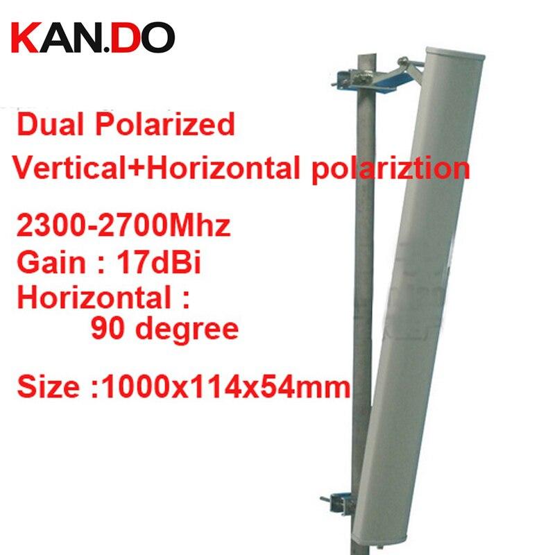 17dbi verticale + horizontale polariztion 90deg 2.3-2.7G téléphone booster antenne 2.4G wifi antenne Base station utiliser FDD 4G TDD antenne