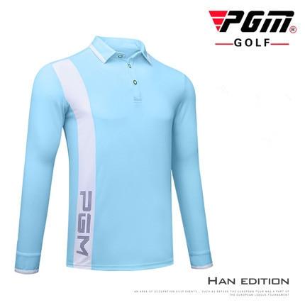 PGM New Golf Sportswear Autumn long sleeve Golf POLO Shirt Mens Outdoor Sports Windproof Keep Warm Quick Dry Golf T-shirt