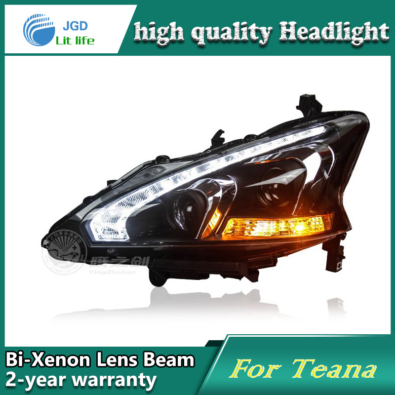 high quality Car Styling case for Nissan Teana 2013 Headlights LED Headlight DRL Lens Double Beam HID Xenon Car Accessories high quality car styling case for mitsubishi lancer 2010 2013 headlights led headlight drl lens double beam hid xenon