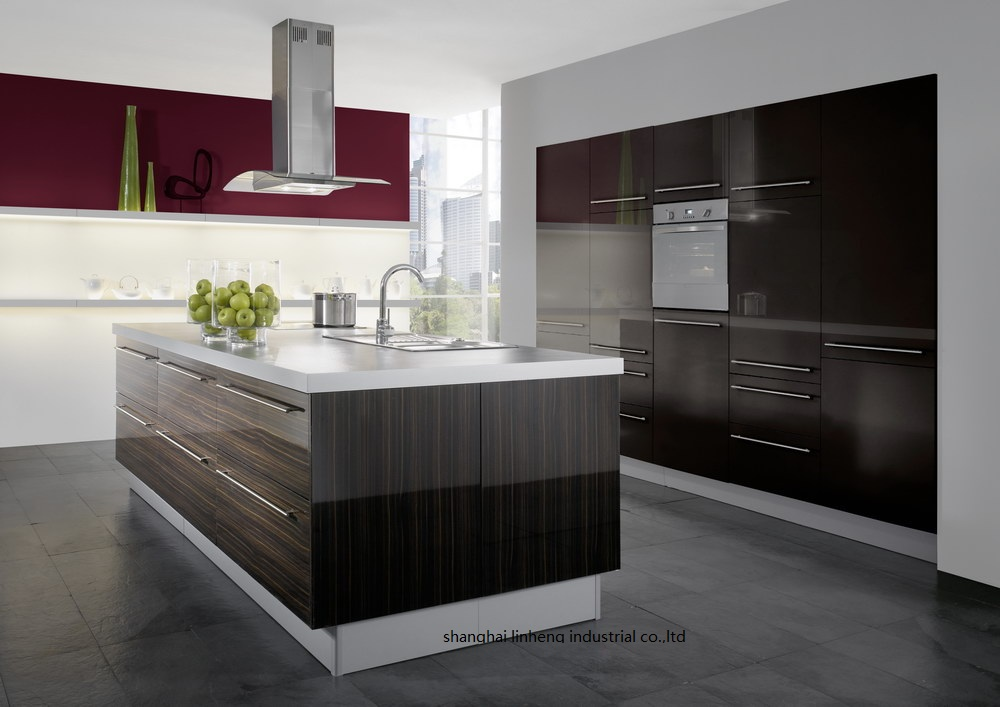 Melamine/mfc Kitchen Cabinets(LH-ME062)