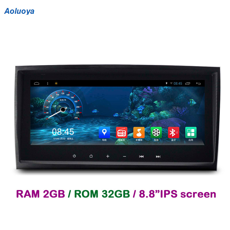 Aoluoya RAM 2GB+32GB Android 7.1 CAR Radio DVD GPS Player For Mercedes Benz SLK Class R171 W171 SLK200 SLK280 SLK300 SLK350 WIFI