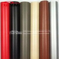1.52mX5/10/15/20/30m Leather Pattern PVC Adhesive Vinyl Film Stickers Waterproof Decoration Change Color Decal Vinyl Wrap