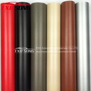Image 5 - Premium Leather Pattern PVC Adhesive Vinyl Film Stickers For Auto Car Body Internal Decoration Vinyl Wrap Car leather film