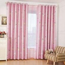 Kids Curtains Pink Princess Girls Cartoon Curtain Children Living Room Bedroom Window Cortinas Custom Blackout