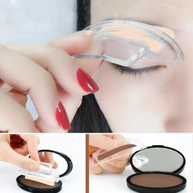 Lazy Quick Eyebrow Stamp Seal Tint Waterproof Long Lasting Eyes Brow Shadows Set Natural Shape Punch